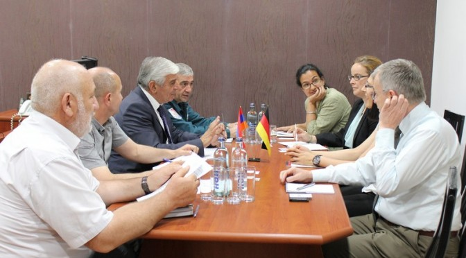 The German delegation in the Ministry of Emergency Situations
