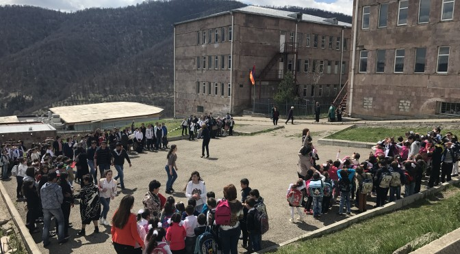 Evacuation drill  at Dilijan School N 5