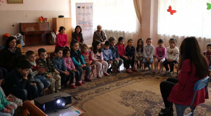 "Training on ""DRR education in kindergartens"" in Kapan No.1 preschool educational institution"