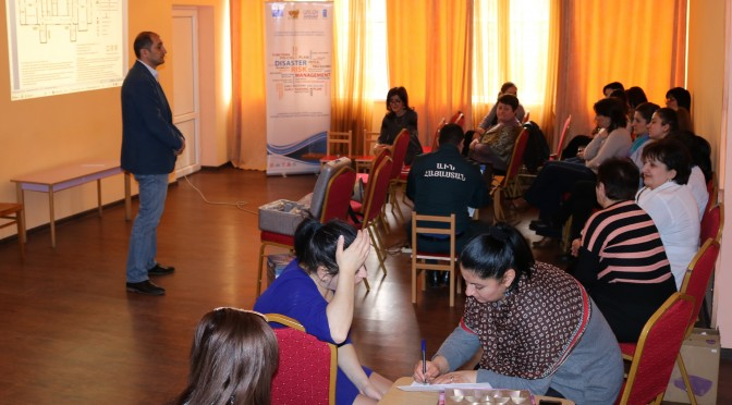 "Pilot on ""Preschool Educational Institutions' Disaster Risk Management Plan"" draft version in Kapan kindergartens (Photos)"