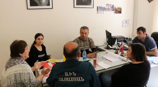"Working meetings in Akhtala within the frame of EU ""Alliance for Disaster Risk Reduction (ALTER)"" project"