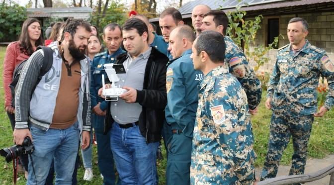 ՀՀ ԱԻ նախարարության և Ճգնաժամային կառավարման պետական ակադեմիայի աշխատակիցները ուսուցանվում են անօդաչու թռչող սարքեր շահագործել