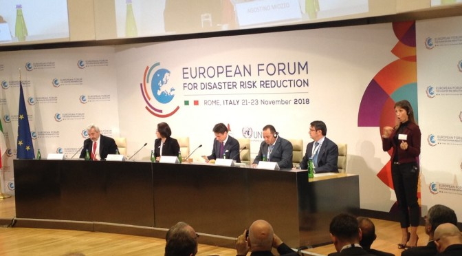 ARMENIAN DELEGATION PARTICIPATES IN EUROPEAN DISASTER RISK REDUCTION FORUM