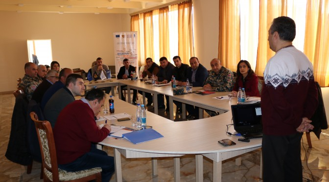 """Trainings are organized and implemented on usage and testing of ''Disaster Risk Management (DRM) National Strategy's Implementation Information Management online System"""""""