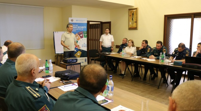 Training of Trainers was organized for the employees of Regional Rescue Departments of MES