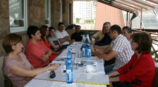 «Տեղական մակարդակում ռիսկերի կառավարման» թեմատիկ խմբի հանդիպում