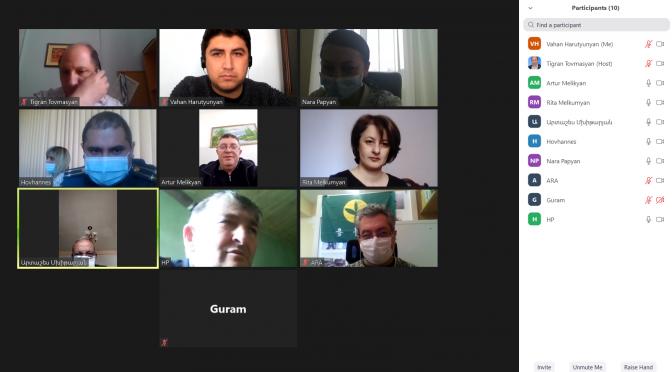 Առցանց հանդիպում-քննարկում Բերդ համայնքի թվով 7 դպրոցների ներկայացուցիչների հետ